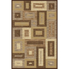Momeni Boxing Brown Rectangular Indoor Woven Area Rug (Common: 5 x 8; Actual: 63-in W x 90-in L)