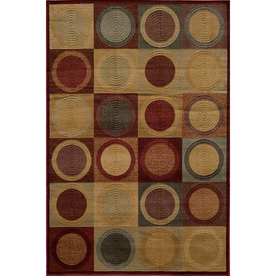 Momeni Stone Rectangular Multicolor Geometric Woven Area Rug (Common: 5-ft x 8-ft; Actual: 5.25-ft x 7.5-ft)