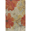 Momeni Laurel 96-in x 120-in Rectangular Cream/Beige/Almond Floral Area Rug