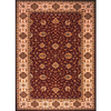 Momeni Giselle Rectangular Red with Cream Border Wool Area Rug (Common: 10-ft x 13-ft; Actual: 9-ft 6-in x 13-ft)