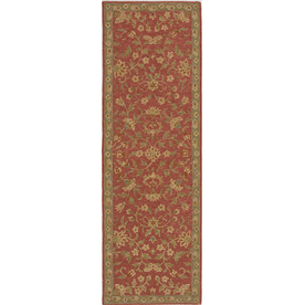 Momeni Marlys Rose Red Hand-Hooked Wool Runner (Common: 2-ft x 8-ft; Actual: 2.5-ft x 8-ft)