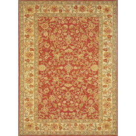 Momeni Marlys Rectangular Red with Cream Border Wool Area Rug (Common: 8-ft x 11-ft; Actual: 8-ft x 11-ft)