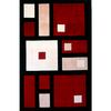 Momeni Powell 42-in x 66-in Rectangular Black Geometric Area Rug