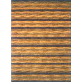 Momeni Max Rectangular Yellow Transitional Woven Wool Area Rug (Common: 8-ft x 11-ft; Actual: 8-ft x 11-ft)
