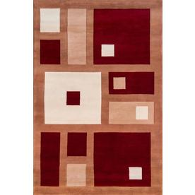 Momeni Melrose 42-in x 66-in Rectangular Red/Pink Geometric Area Rug