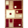 Momeni Melrose 63-in x 96-in Rectangular Red/Pink Geometric Area Rug