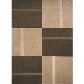 Momeni Scott Rectangular Brown Geometric Woven Wool Area Rug (Common: 5-ft x 8-ft; Actual: 5-ft x 8-ft)