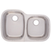 Franke USA 32-in x 18.5-in Radiant Silk Double-Basin Stainless Steel Undermount Kitchen Sink
