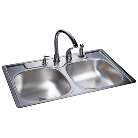 ... Franke USA Double-Basin Stainless Steel Topmount Kitchen Sink at Lowes
