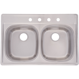 Frank Usa Sink : Franke USA Frankeusa 22-in x 33-in Satin Deck and Silk Bowls Double ...