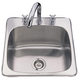 Franke USA 20.125-in x 20.5625-in Silk Deck and Bowl Single-Basin ...