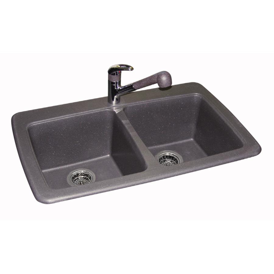 Franke USA Double-Basin Drop-in or Undermount Granite Kitchen Sink ...