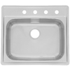 Franke USA 22-in x 25-in Radiant Silk Deck and Bowl Single-Basin Stainless Steel Drop-In Kitchen Sink