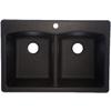 Franke USA Double-Basin Drop-in or Undermount Granite Kitchen Sink