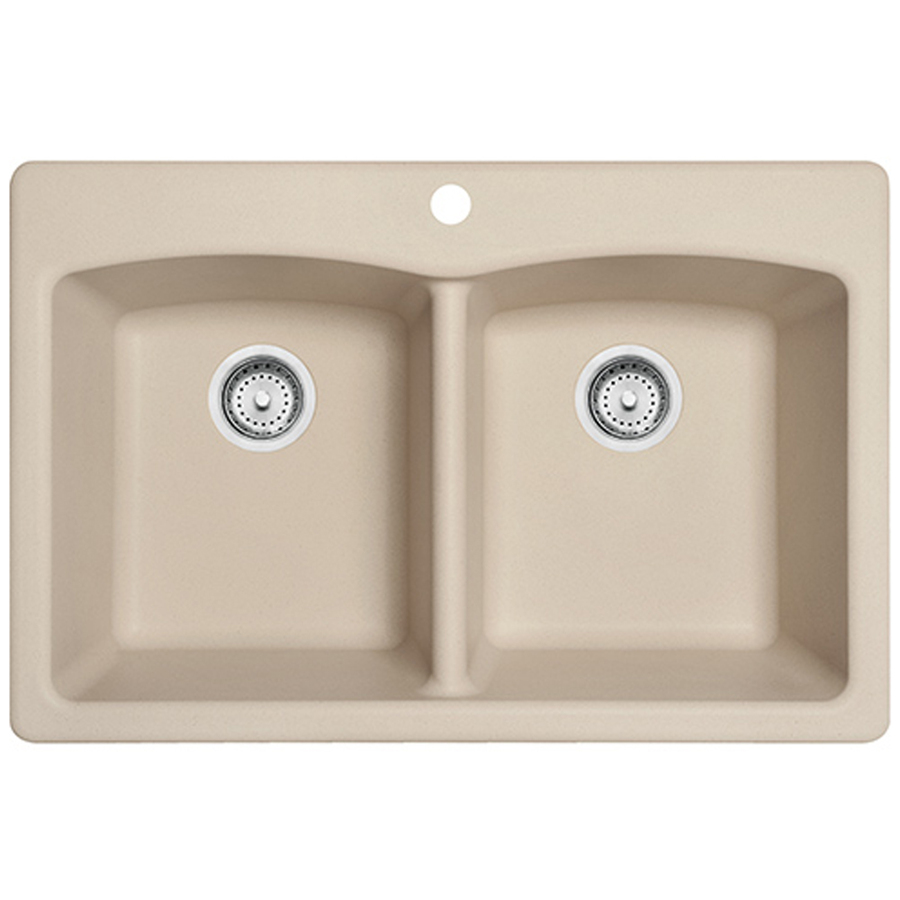 Franke USA Double-Basin Drop-in or Undermount Granite Kitchen Sink ...