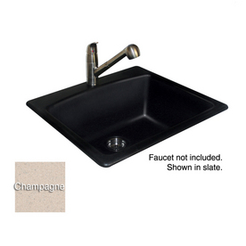 Franke Black Composite Sink : Shop Franke USA Black 1-Hole Single-Basin Composite Granite Topmount ...