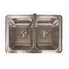 Franke USA Double-Basin Drop-In Stainless Steel Kitchen Sink with Faucet