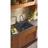Franke USA 22-in x 25-in Onyx Single-Basin Granite Drop-In or Undermount Kitchen Sink