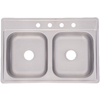 Franke USA Double-Basin Drop-In Stainless Steel Kitchen Sink