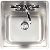 Kindred Essential 15-in x 15-in Satin Single-Basin Stainless Steel Drop-In 2-Hole Commercial Kitchen Sink All-In-One Kit