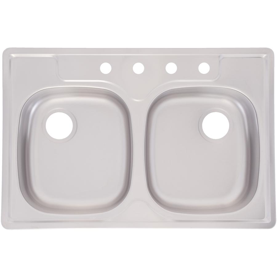 Franke Drop In Sink : Shop Franke USA Frankeusa Satin Deck & Bowls Double-Basin Drop-In ...