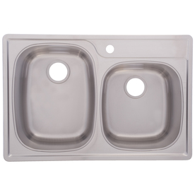Franke Drop In Sink : Franke USA FrankeUSA 18-Gauge Double-Basin Drop-In Stainless Steel ...