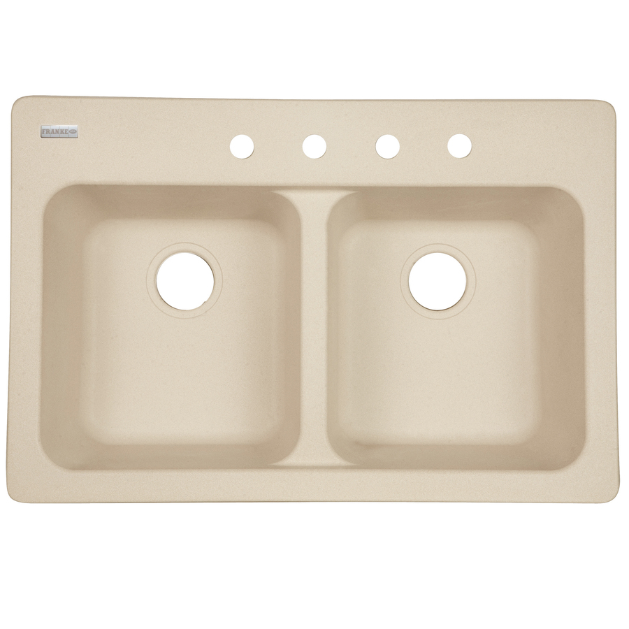 Franke White Composite Sink : Shop Franke USA Double-Basin Drop-in Composite Kitchen Sink at Lowes ...