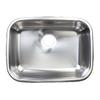 Franke 17.625-in x 23.625-in Silk Rim and Bowl Single-Basin Stainless Steel Undermount Kitchen Sink