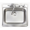 Franke USA 22-in x 25-in Stainless Steel Single-Basin Drop-In Kitchen Sink