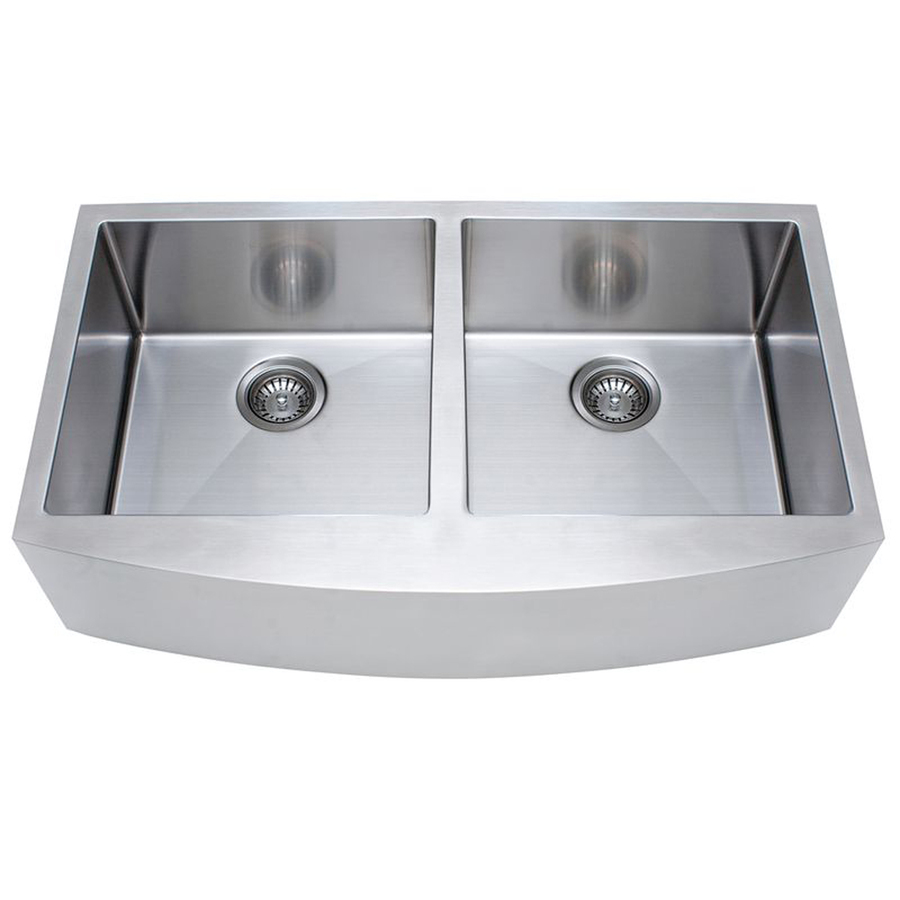 Apron Stainless Steel Sink : ... Basin Apron Front/Farmhouse Stainless Steel Kitchen Sink at Lowes.com