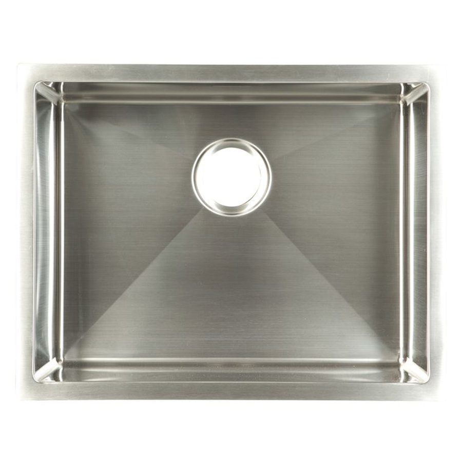 Franke Kitchen Sinks : Franke USA Frankeusa Satin Rim & Bowl Single-Basin Undermount Kitchen ...