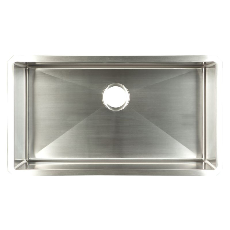 Kitchen Sinks Undermount Stainless Steel : ... Satin Rim & Bowl Single-Basin Undermount Kitchen Sink at Lowes.com