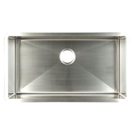 Shop franke 18 in x 32 in satin rim and bowl single basin - Kitchen sink rim ...