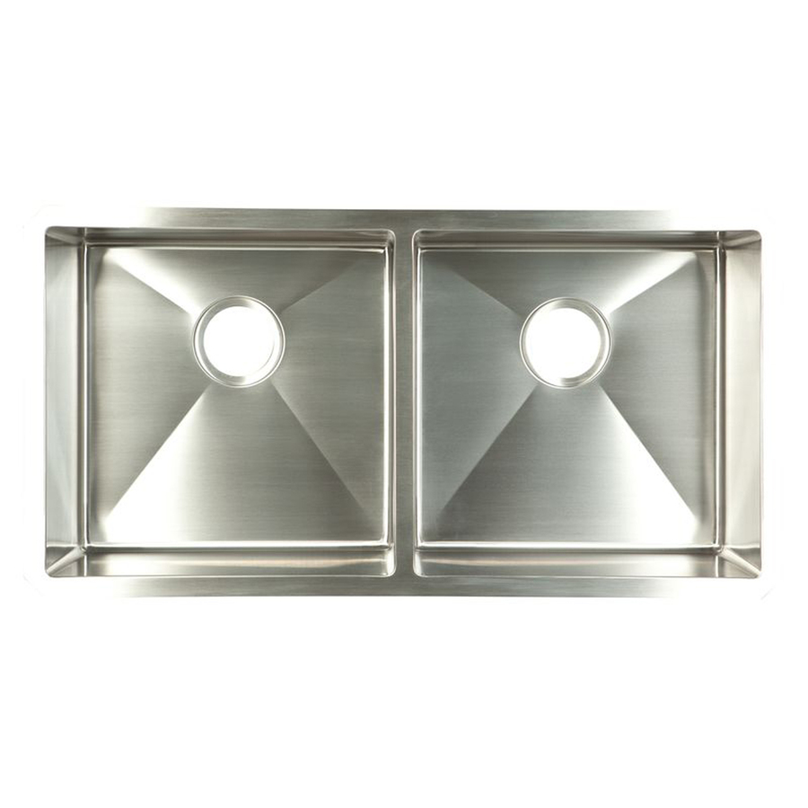 ... Double-Basin Stainless Steel Undermount Kitchen Sink at Lowes.com