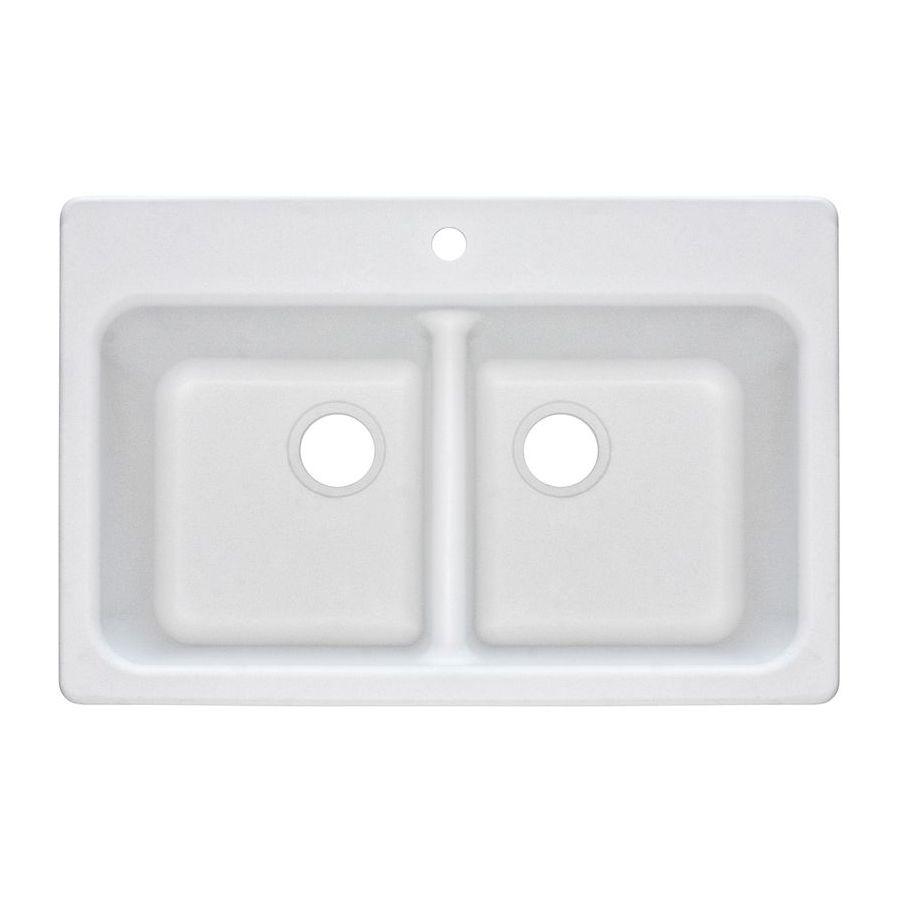 Shop Franke USA FrankeUSA 2 Drop-In or Undermount Granite Kitchen Sink ...