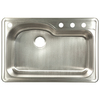 Franke USA 22-in x 33-in Silk Deck and Silk Bowls Single-Basin Stainless Steel Drop-In Kitchen Sink