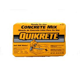QUIKRETE 40-lb Gray High Strength Concrete Mix