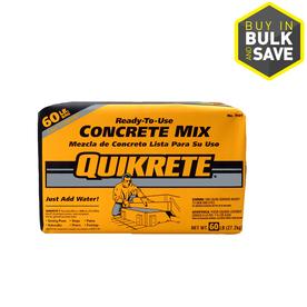 QUIKRETE 60-lb Gray High Strength Concrete Mix