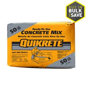 QUIKRETE 50-lb Gray High Strength Concrete Mix