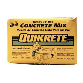 QUIKRETE 90-lb Gray High Strength Concrete Mix