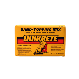 QUIKRETE Sand Topping 60-lb Gray High Strength Concrete Mix