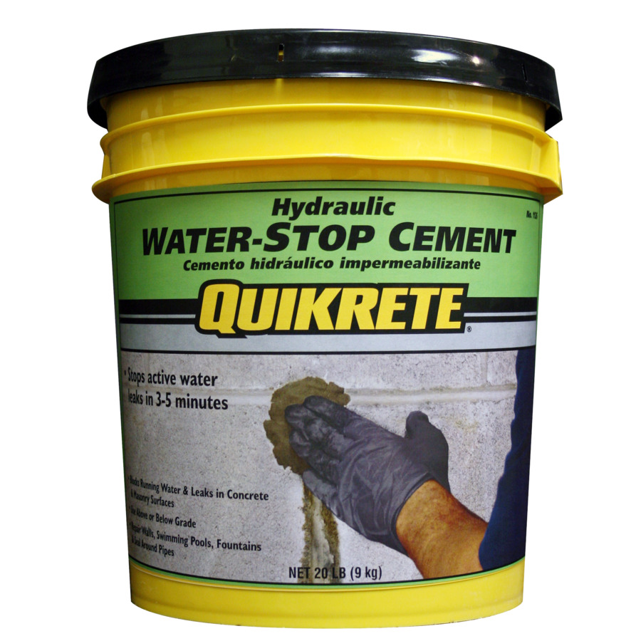 Quikrete hydraulic water stop