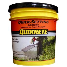 Shop quikrete quick setting 20 lb gray cement mix at for Quikrete exterior stucco patch