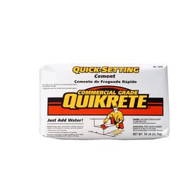 Shop quikrete quick setting 50 lb gray cement mix at for Quikrete exterior stucco patch