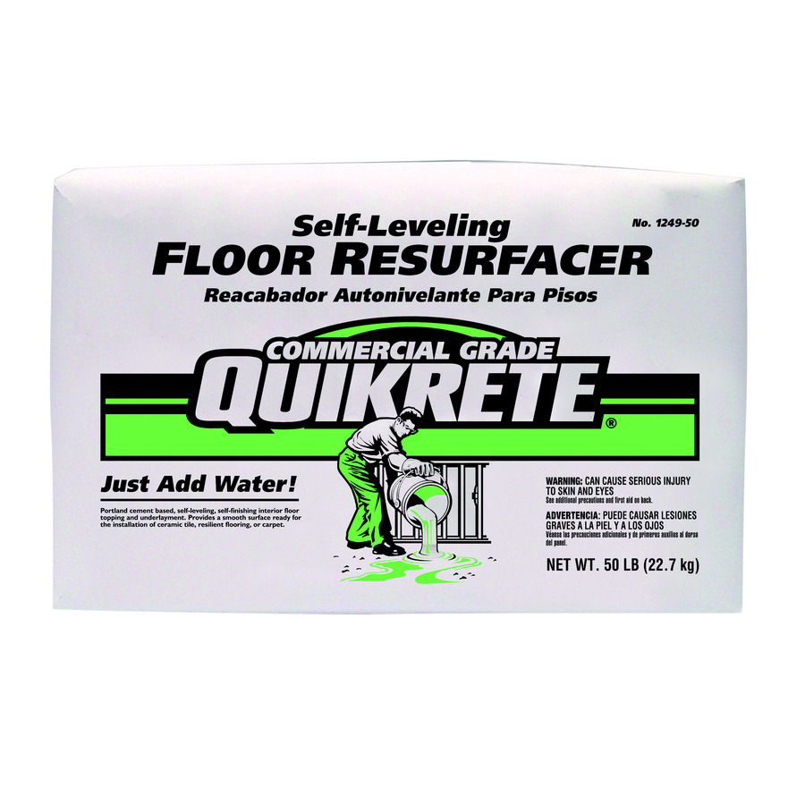 Shop quikrete 50 lb gray high strength concrete mix at for Self leveling floor resurfacer