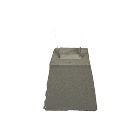 QUIKRETE 12-in Gray Pier Block with 4-in Strap