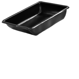 MacCourt 26-in x 20-in High Density Polyethylene Small Black All Purpose Tub