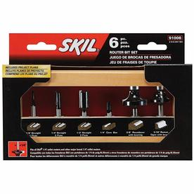 Skil 6-Piece Router Bit Set