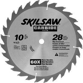 Skil 10-in 28-Tooth Standard Tungsten Carbide-Tipped Steel Circular Saw Blade