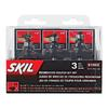Skil 3-Piece Roundover Router Bit Set, 1/4-in Dia Carbide Tipped Shank